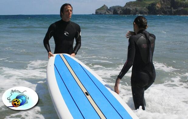 Bautismo de surf en la Playa de Loredo