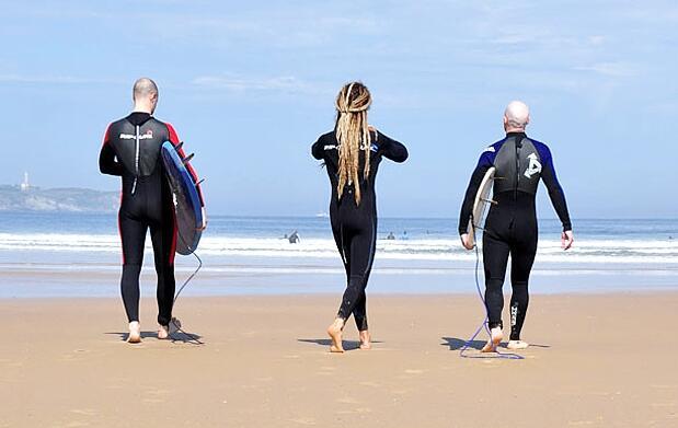Curso completo de surf de 5 días en Somo