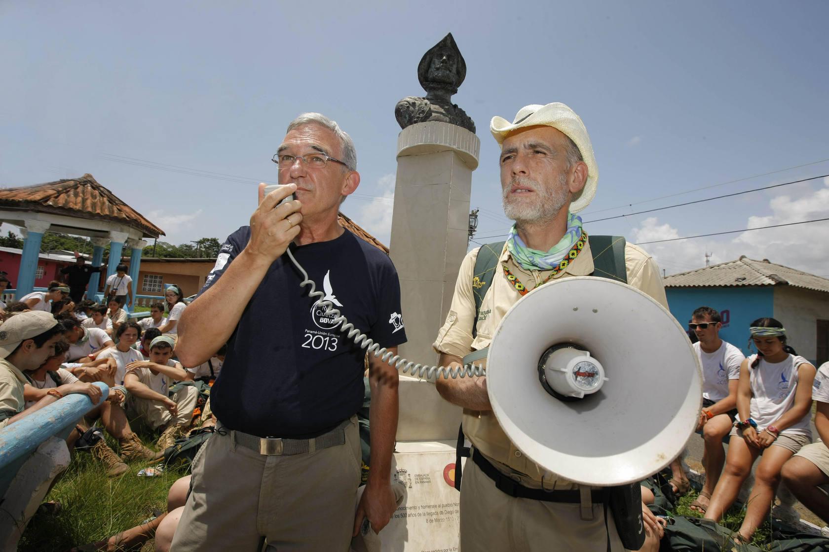 Ruta Quetzal 2013: Paso de la expedición por Portobelo y Nombre de Dios