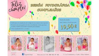 Reportaje fotográfico para el cumpleaños de tu bebé por 19.9€