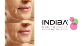 Aplicación de INDIBA DEEP BEAUTY ER45 con doble hidratación y mascarilla de colágeno