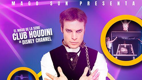Entradas MAGO SUN presenta HOUDINI, la magia de la TV, en el Teatro Salesianos por 8€