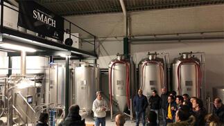 Fábrica de Cerveza Smach, visita, cata y tapeo para 2