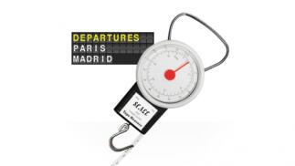 Báscula de viaje para pesar equipaje
