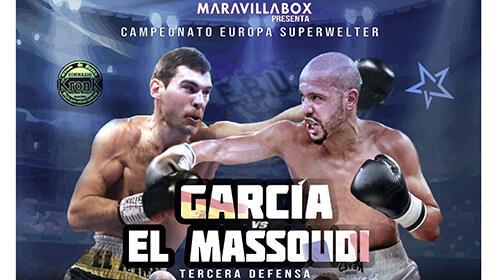 Entradas grada para boxeo García vs. Massoudi. Campeonato Europa Superwelter