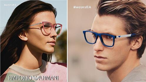Gafas graduadas: montura y lentes monofocales con antireflejante, Armani, Vogue o Polo Ralph Lauren