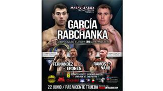 Entradas grada para boxeo García vs. Rabchanka EBU Superwelterweight Title