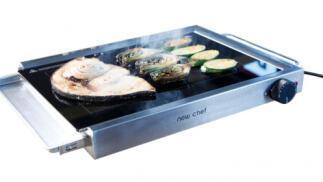 Plancha grill de cristal Newchef