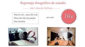 Reportaje fotográfico profesional en estudio con tres copias por 10€