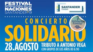 Entradas para Tributo a Antonio Vega. Conciertos Solidarios Festival de las Naciones Santander