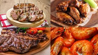Parrillada para dos de carne o pescado con postre y bebida por 35€
