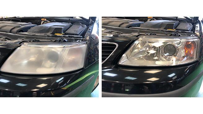 Barnizado de faros y desinfección del vehículo con ozono