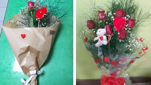 Díselo con flores en San Valentín