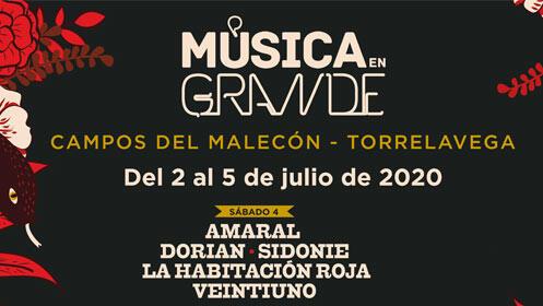 Entradas VIP Música en Grande. El Barrio + Natalia Jiménez por 49€, 24 únicas entradas.