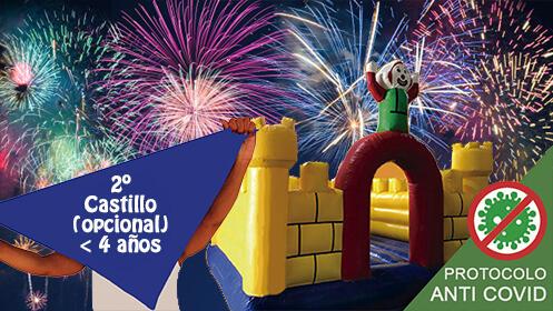 Celebra la Semana Grande en tu jardín con un Castillo hinchable y globos
